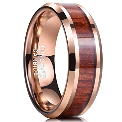 Faithful Titanium 14k Yellow Inlay 8 Mm Brushed Wedding Band Selected Material Jewelry & Watches