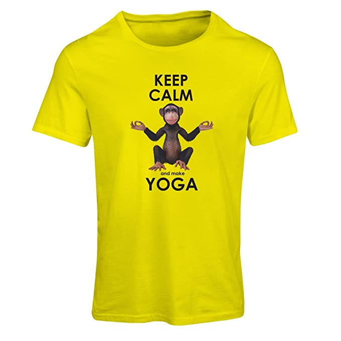 lepni.me Camiseta Mujer Mantenga la Calma y Haga Yoga ...