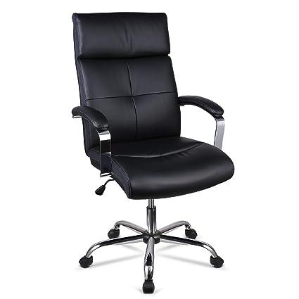 nouveau produit 005ec 024e1 INTEY Fauteuil de Bureau Chaise de Bureau Haut de Gamme en Similicuir,  Coussin en Eponge à Haute Densité, Hauteur Réglable, Design Ergonomique,  Charge ...
