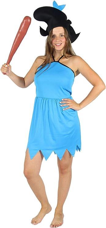 Foxxeo Disfraz de Damas de la Edad de Piedra Azul para el Carnaval ...