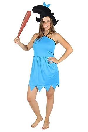 bekannte Marke zu verkaufen Tropfenverschiffen Foxxeo blaues Steinzeit Damen Kostüm für Fasching und ...