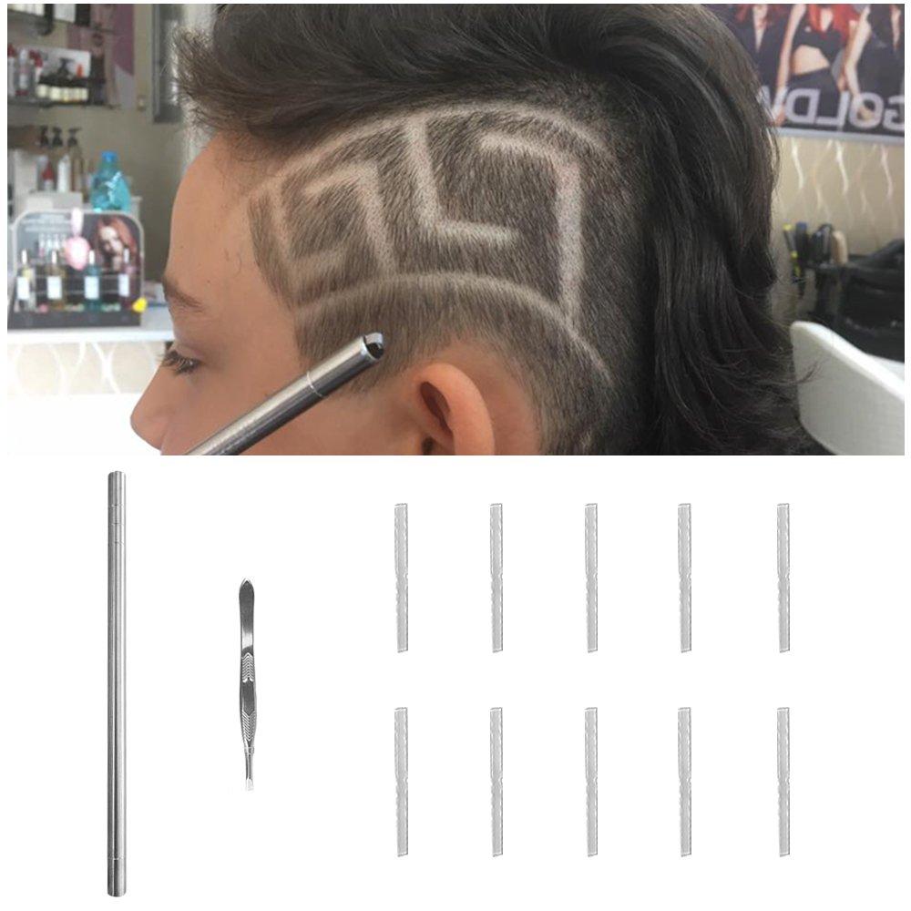 Hair Tattoo Pen for Hair Design Barber Pen Blades Professional Art Cut  Salon Magic Engraved Sharp Pen Tweezers DIY Hair Styling Tools Hair Cutting
