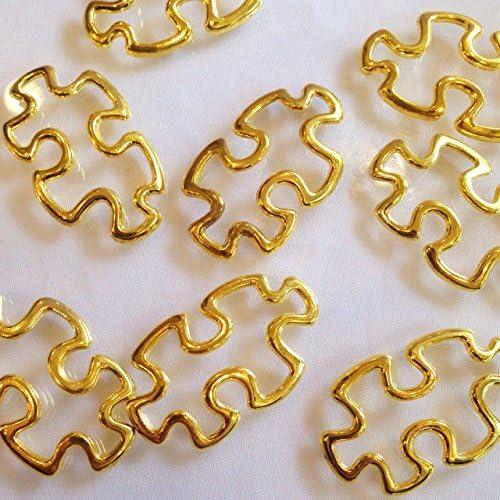 パズル 4個 ゴールドチャーム アクセサリーパーツ ハンドメイド 手芸材料