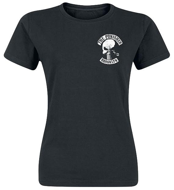 The Punisher Brooklyn MC Camiseta Negro Svgi7W1VLW