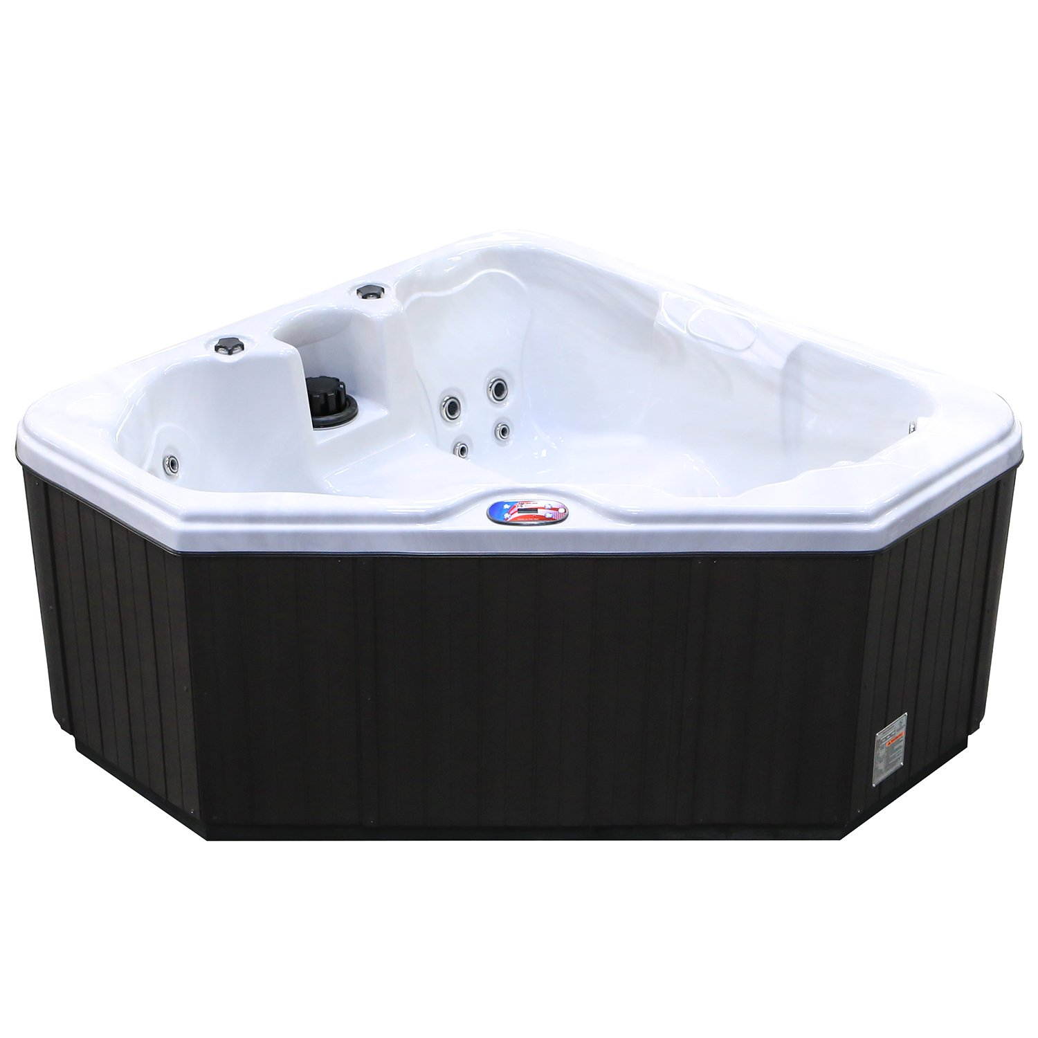 Amazon.com : American Spas AM-628TS 2-Person 28-Jet Triangle Spa ...