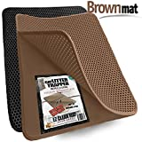 Small Cat Litter Trapper by iPrimio - Litter Mat - EZ Clean Cat Mat - Litter Box Mat Water Proof Layer and Puppy Pad Option. Patent Pending. (23