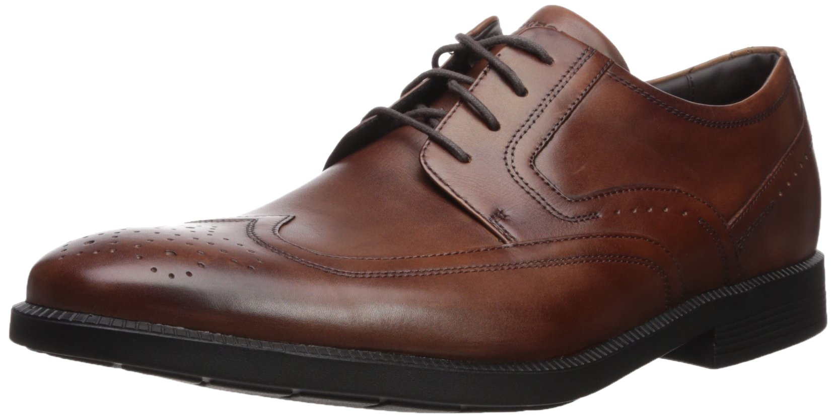 Rockport Men's Dressports Business Wing Tip Shoe, New Brown, 9.5 M US