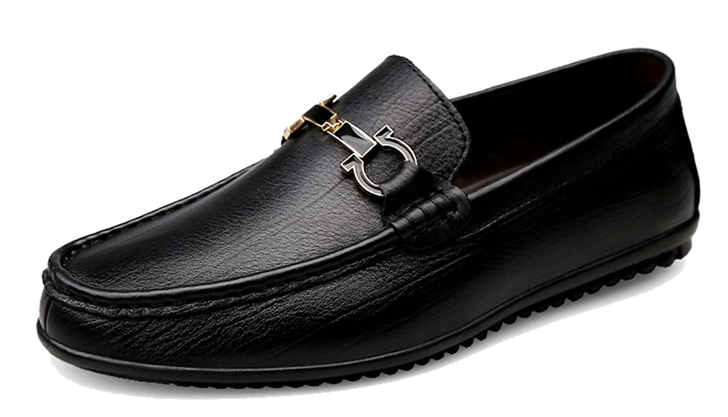 Men's Casual Comfort Leather Fashion Walking Hiking Loafers Driving Slip-On Shoes
