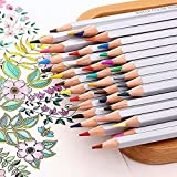 36-Color Colored Pencils Wooden Premier Soft Core Art Colored Drawing Pencils Artist Sketch for Adult Coloring Books with Case by BBoilin