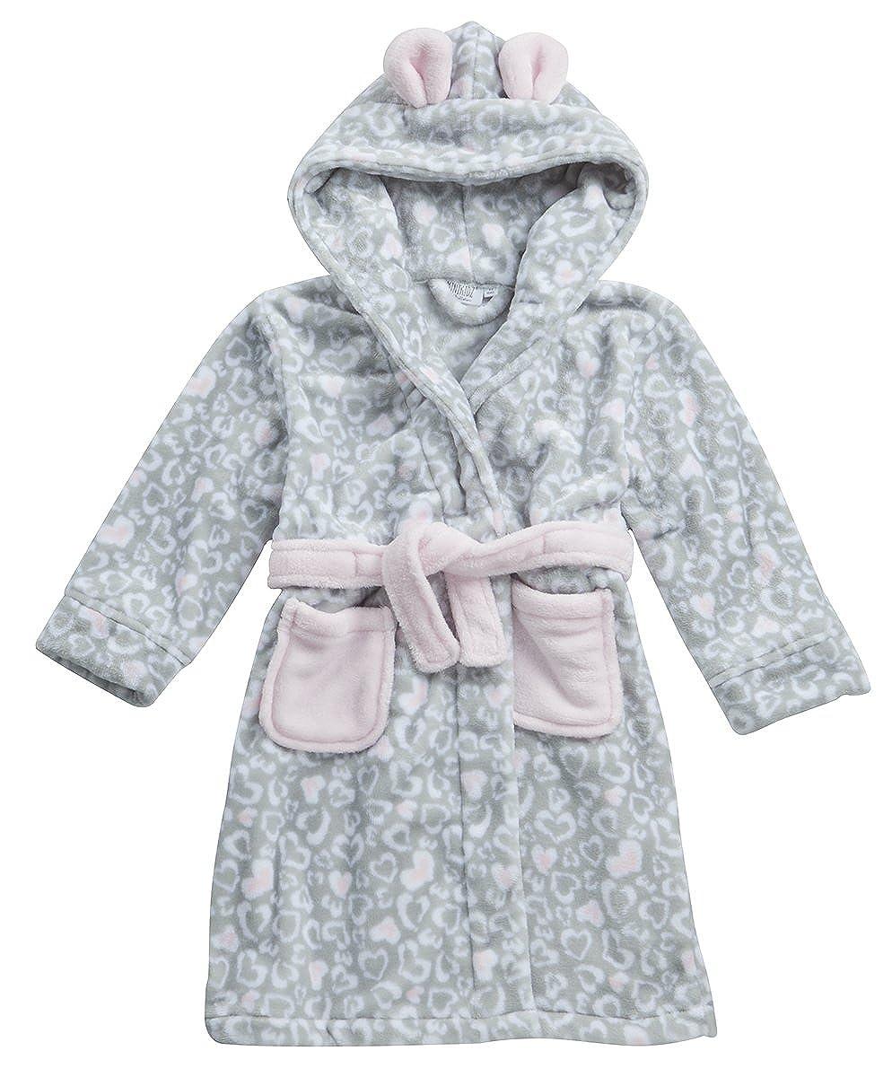 Colore: Rosa Minikidz Motivo Principessa Accappatoio da Bambina con Cappuccio