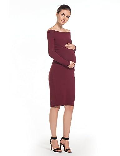 MODETREND Premamá Vestidos sin Tirantes para Mujeres Mama Embarazo Vestido de Maternidad para Fiesta Bodas Cóctel: Amazon.es: Ropa y accesorios
