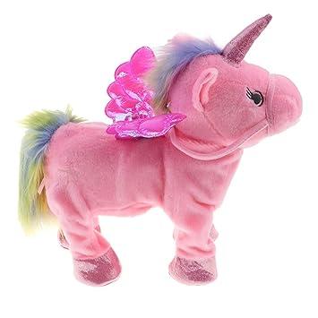 D DOLITY Electronic Pet Unicorn Small Pegasus Cute Plush