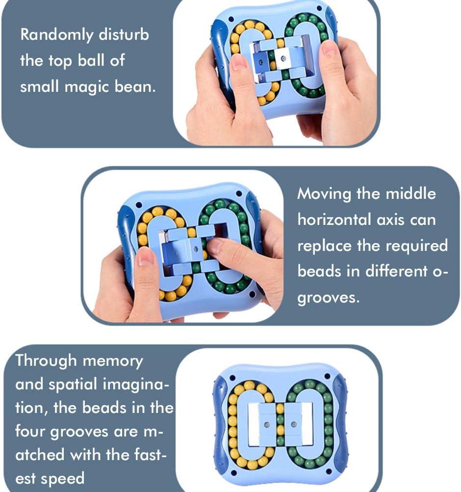 Hinder Magic Bean Burger s Cube Fingertip Spinner Kinder Intelligenz Entwicklung Dekompression p/ädagogisches Spielzeug