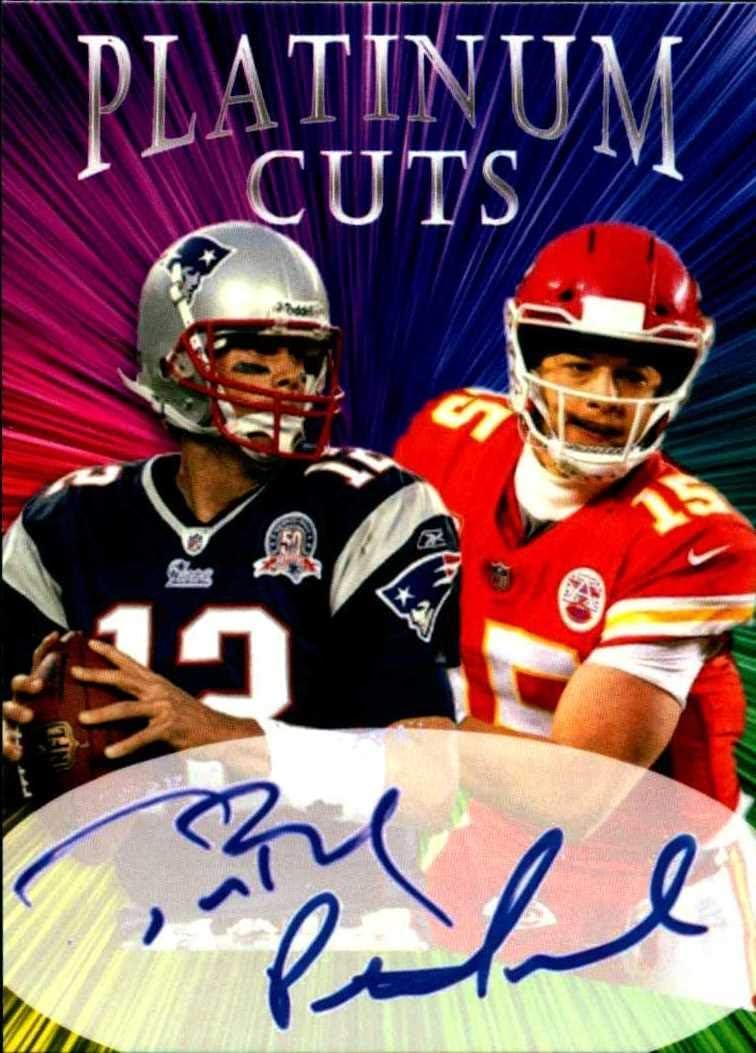 Tom Brady Patrick Mahomes Platinum Dual Cuts facs auto autograph football card 1//1000 New England Patriots Kansas City Chiefs