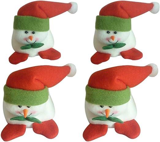 Ktyssp - Juego de 4 Fundas para Patas de Silla de Navidad para decoración de Mesa para Fiestas y cenas: Amazon.es: Jardín