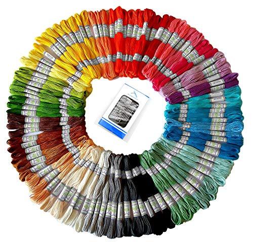 Embroidery Floss Skein - Embroidery Floss 100 Skeins Embroidery Premium Rainbow Color Cross Stitch Threads Friendship Bracelets String