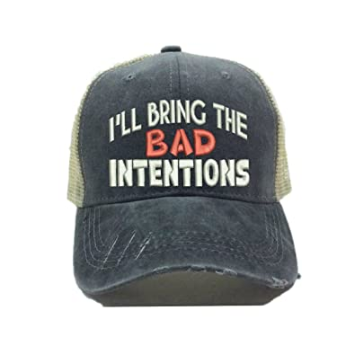 1fc3394218f Distressed Trucker Hat I ll Bring The Alcohol Or Bad Decisions Custom Funny  Party Baseball