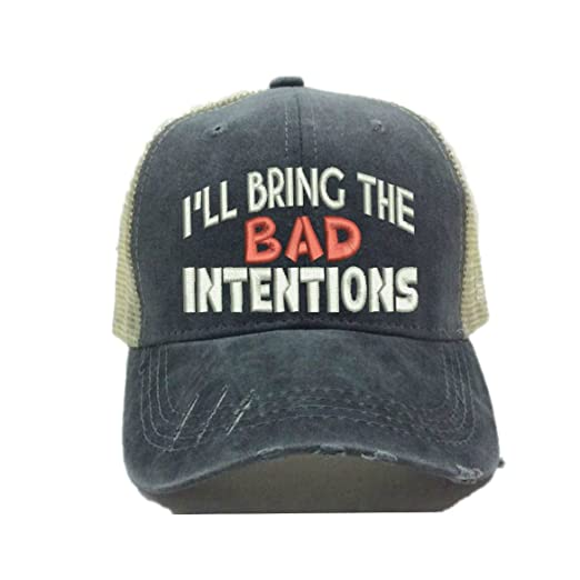 Distressed Trucker Hat I ll Bring The Alcohol Or Bad Decisions Custom Funny  Party Baseball 3d2d7927facf