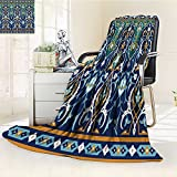 Luminous Microfiber Throw Blanket arabic floral seamless border traditional islamic design mosque decoration elem Glow In The Dark Constellation Blanket, Soft And Durable Polyester(60''x 50'')