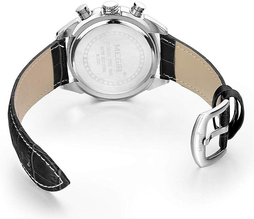 Orologio da polso da uomo, cronografo, casual, al quarzo, sportivo, impermeabile fino a 30 m, calendario/data/giorno cronografo Ml2020gbk-1