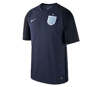 Oficial de Inglaterra Nike hombre 2017 2018 Away azul marino camiseta de fútbol grande