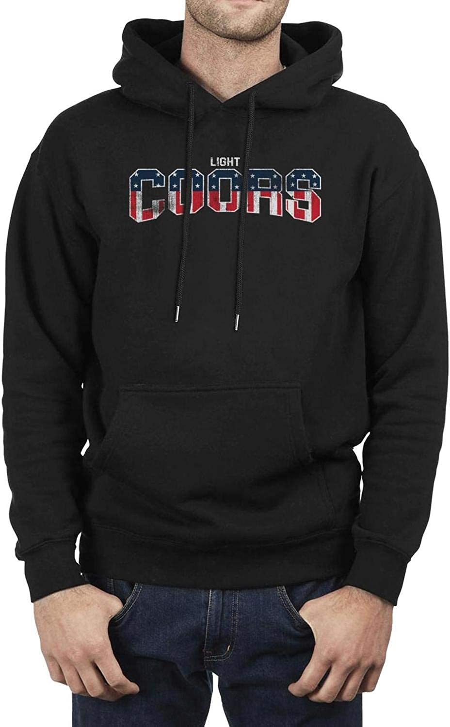 Print Sweaters Outdoor Outfit Vintage Sweatshirt Mens Casual Hoodies Long Coors-Light-3D-USA-flag