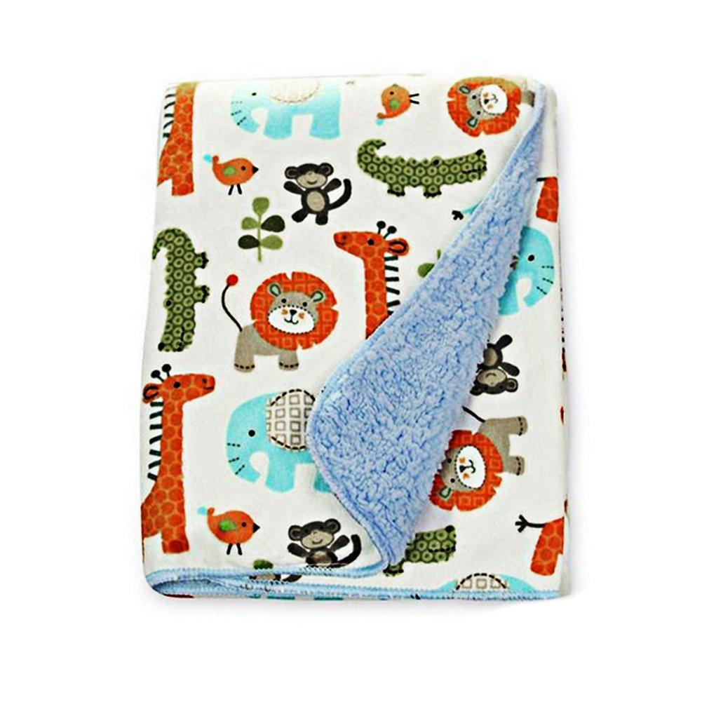 EP Queen Fleece Baby Blanket Unisex 30'' x 40'' Nursery Receiving Blankets/Toddler Bed Blanket For Boys and Girls
