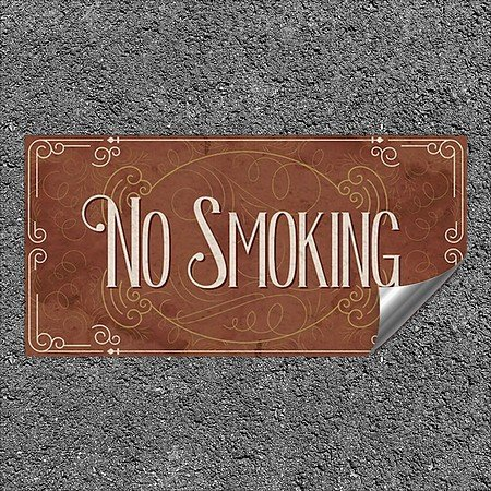 CGSignLab |''No Smoking -Victorian Card'' Heavy-Duty Industrial Self-Adhesive Aluminum Wall Decal | 24''x12''