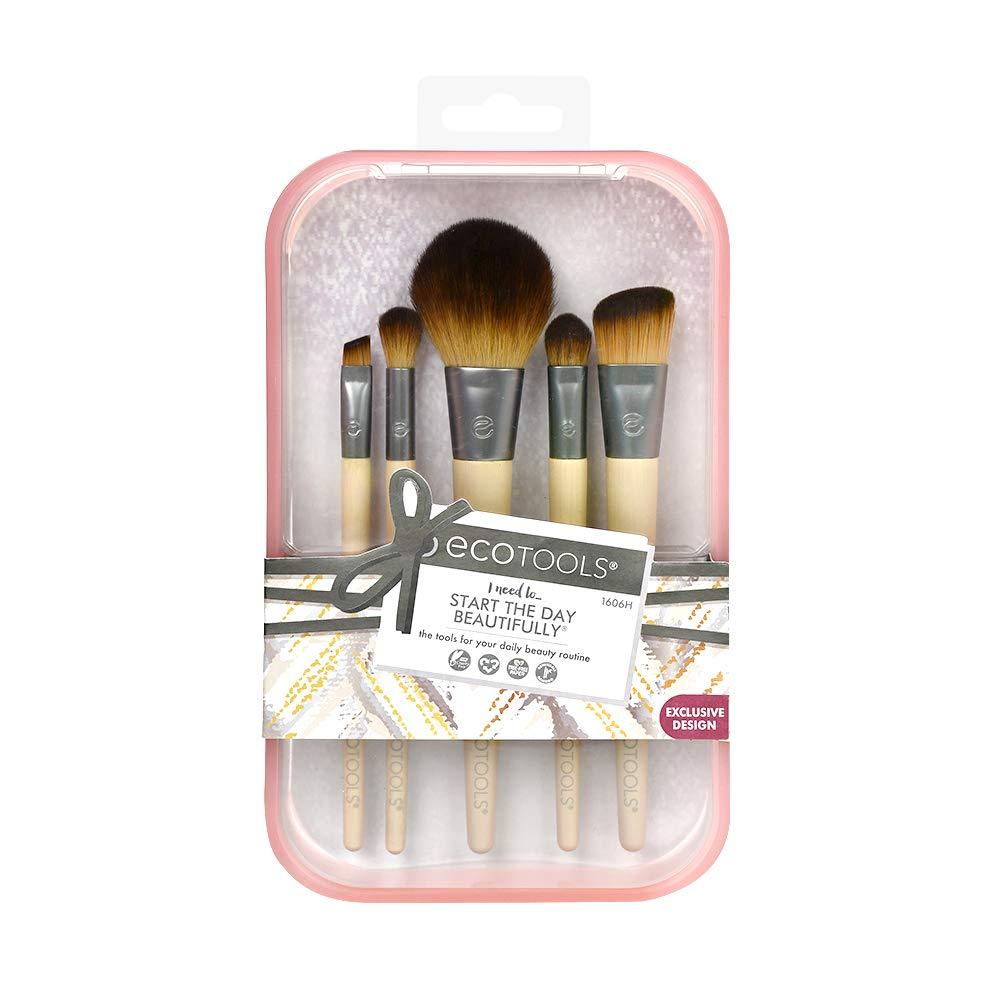 Ecotools Start The Day Beautifully Makeup Brush Set, Pink 120 g