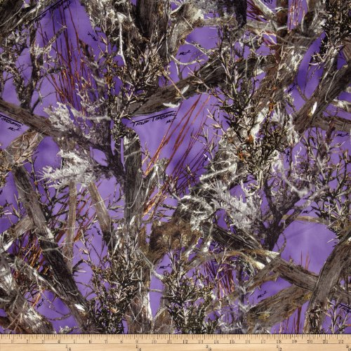 True Timber Outdoors CamouflageTrue Suede Purple Fabric By The - Purple Fabric Camo
