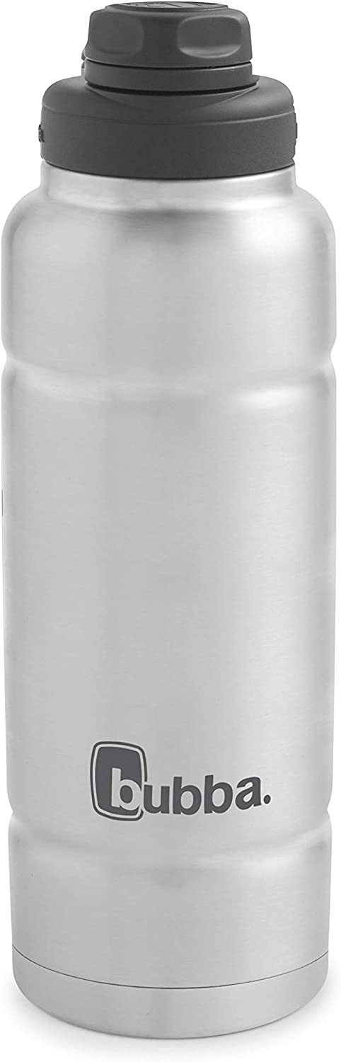 Bubba Trailblazer Vacuum-Insulated Stainless Steel Water Bottle, 40 oz, Stainless Steel