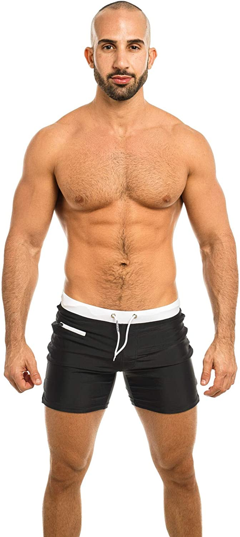 Taddlee Mens Swimwear Swim Shorts Trunks Square Cut Black Blue Swimsuits Boxers