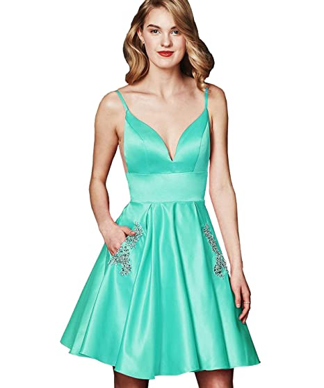 Anff Womens Prom Dress Short Formal Gowns Homecoming Dresses With