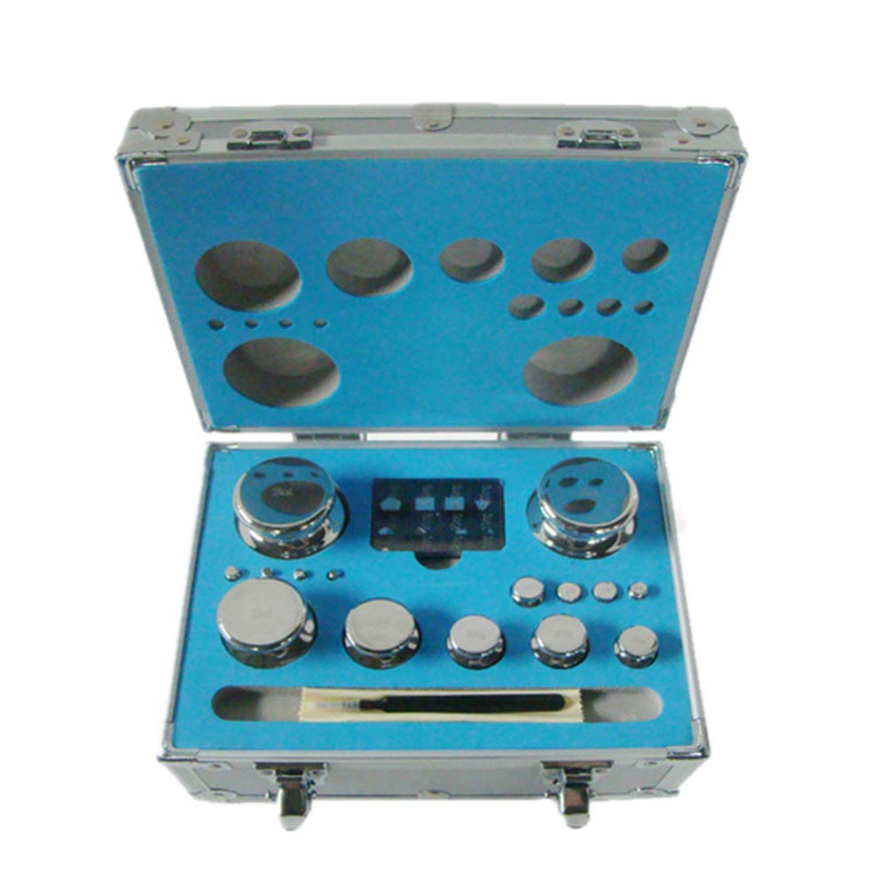 CGOLDENWALL E2 Scale Balance Calibration Weight Set Balance Weight Kit Set for Digital Balance Scale Jewellery Scale Electronic Lab Scale Scale Accessories (1mg/2kg)