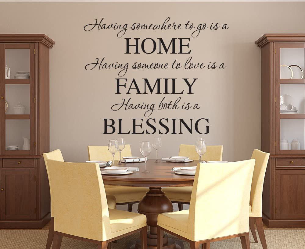 Having Somewhere to Go is a Home Family Wall Decal Quote Lettering Words - Vinyl Wall Decal - Kitchen Home Decor (30W x 28H)