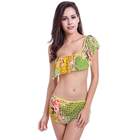 ttkj Traje De Baño Bikini De Falda con Volantes para Mujer Traje ...