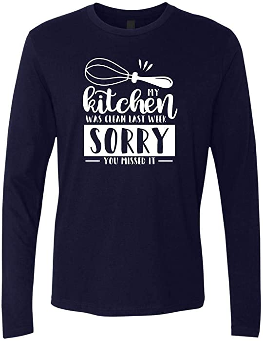 7f377ec5 Amazon.com: My Kitchen was Clean Last Week - Funny Quotes Sleeve ...
