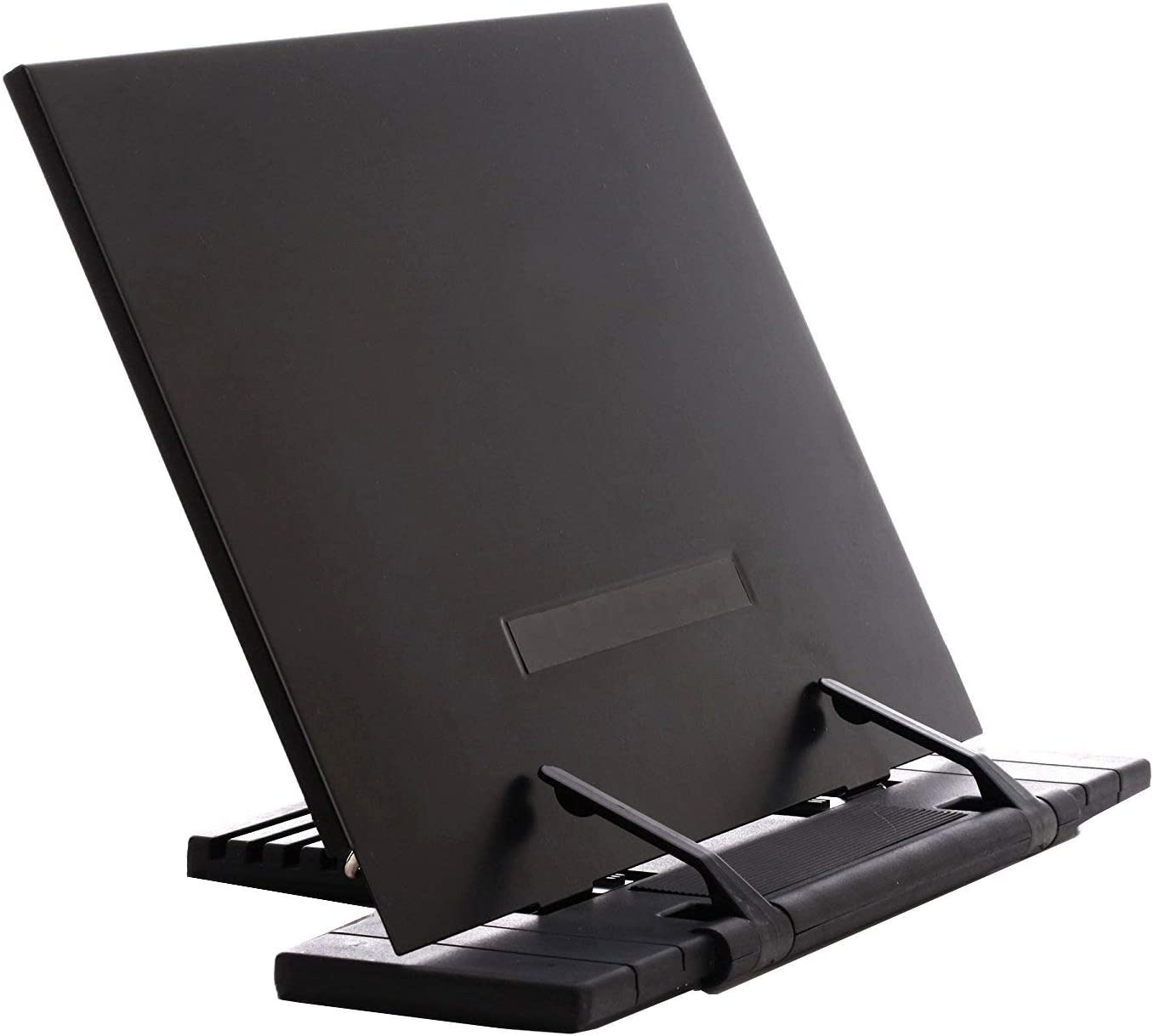 Adjustable Portable Steel Ipad Document Book Stand Frame Reading Desk Holder Office Accessories - Black