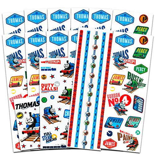Thomas the Train Stickers Party Favors Pack (15 Sticker Sheets, Over 230 Stickers)]()