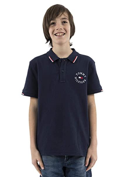 Tommy Hilfiger -Polo KB0KB04706 002 Badge Polo -Polo Manga Corta ...