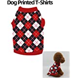 Goolsky Pet Clothes Dog Shirts Dog T-Shirts Printed Pet Vest Shirt Pet Spring Summer Clothes for Small Dogs Cats