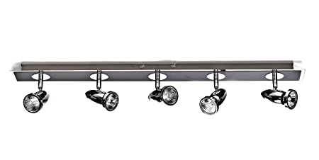 Marco tielle meteor black and chrome ceiling halogen spotlights bar marco tielle meteor black and chrome ceiling halogen spotlights bar 5 lights aloadofball Choice Image