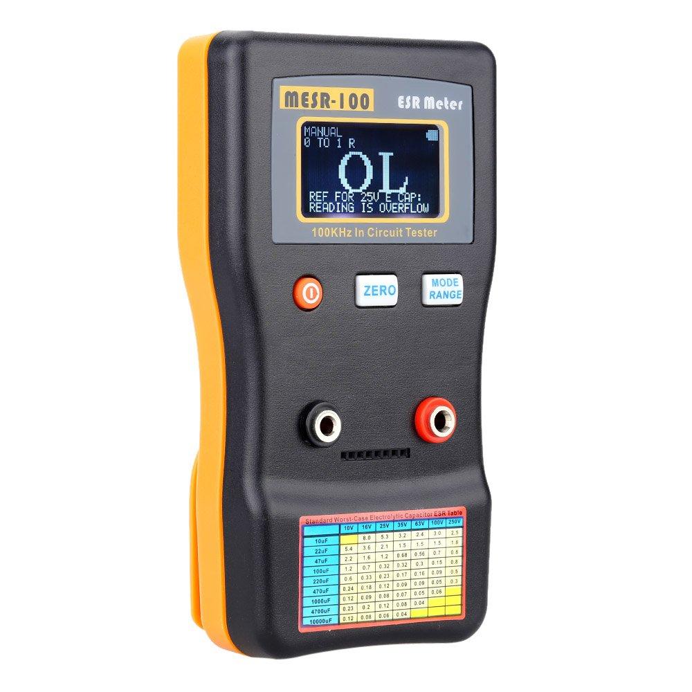 Kkmoon Mesr 100 Esr Capacitance Ohm Meter Professional Measuring Capacitors In Series And Capacitor Circuits Resistance Circuit Tester Diy Tools