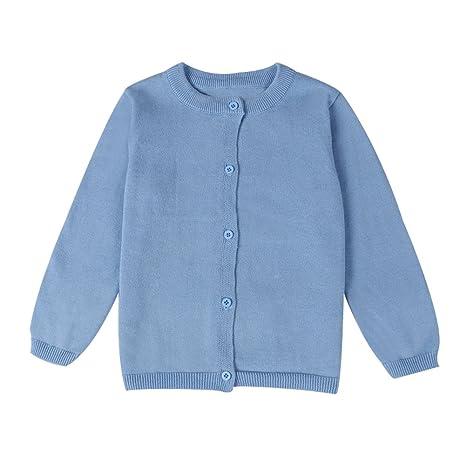 b5c66dc71 Amazon.com  Baby Boys Girls Button-Down Cardigan Toddler Cotton Knit ...