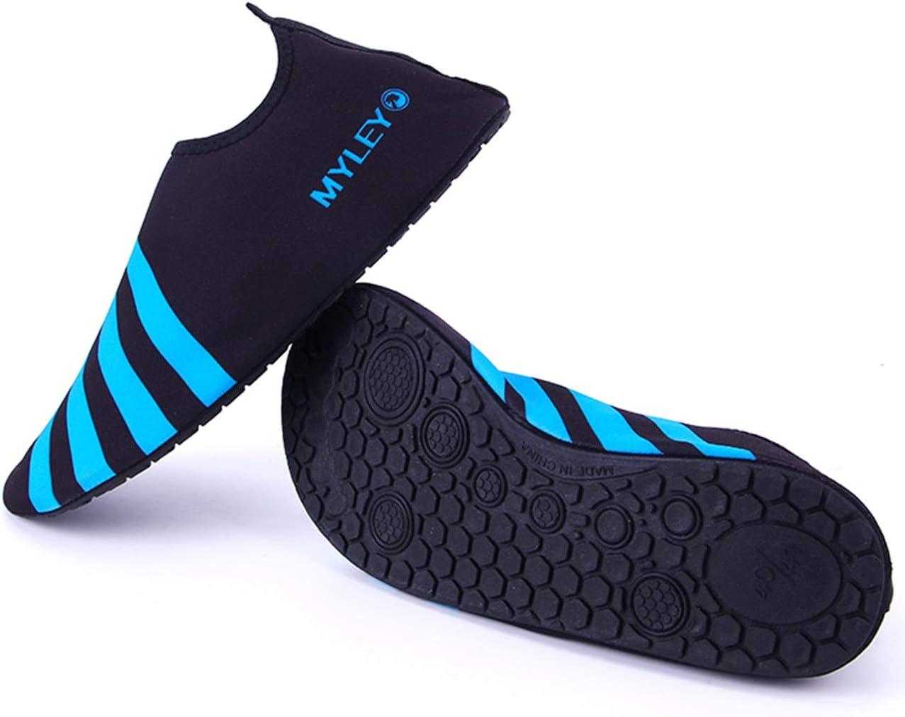 QXue Chaussures de Sport Nautique Pieds Nus à séchage Rapide Aqua Yoga Chaussettes Slip-on pour Hommes Femmes Enfants Pink