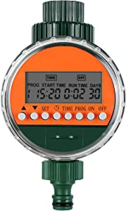 Deckey Digital Water Timer IP68 Waterproof LCD Display Screen Ideal for Garden Drip Irrigation and Lawn Sprinkler System Longest Cycle 30 Days