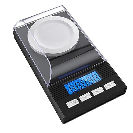 Cosbelle - Báscula digital de bolsillo, escala Milligram, 50 x 0,001 g, escala