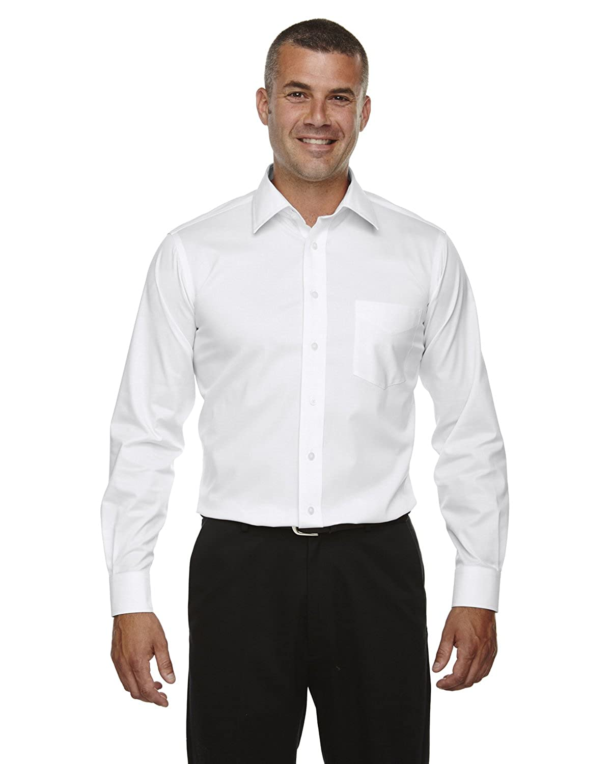 DG530T Devon /& Jones Tall Crown Collection Solid Long-Sleeve Stretch Twill 3XLT White