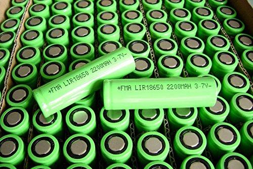 100Pcs 18650 3 7V 2 2Ah Li Ion Rechargeable Battery For Flashlight Power Bank A