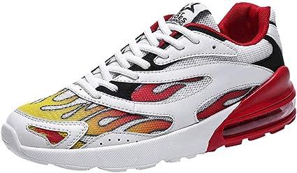 Tisfer Zapatillas deportivas para hombre, cómodas zapatillas para ...